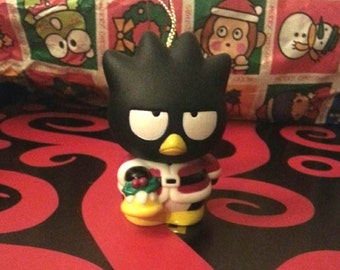 Sanrio Badtz Maru Christmas tree ornament Badtz Maru dressed as Santa