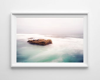 San Diego California Ocean Decor - La Jolla Pacific Ocean Seals Minimalist Art, Beach Home Decor - Small and Large Art Prints Available