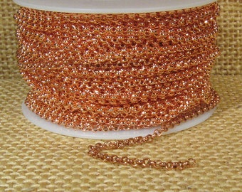 2mm Rolo Chain - Shiny Copper  - CH48 - Choose Your Length