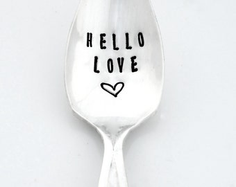 CUSTOM Hand Stamped Grapefruit Serrated Fruit Spoon. Personalized Citrus Spoon. The Original Design by Sycamore Hill Hand Stamped Silverware