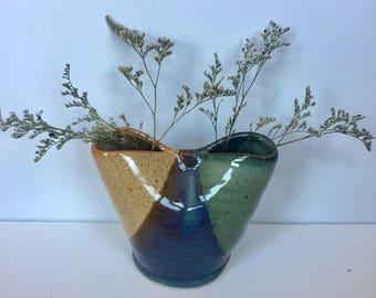Pottery vase, toothbrush holder, pottery pencil holder, pottery flower vase, floer pot, wedding present , pottery gift