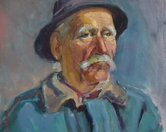 Portrait from life, impressionistic portrait, original oil painting