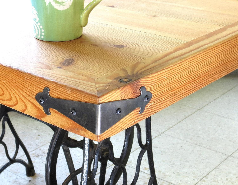 2 Decor Corner Braces Small Wrought Iron Angle Plates