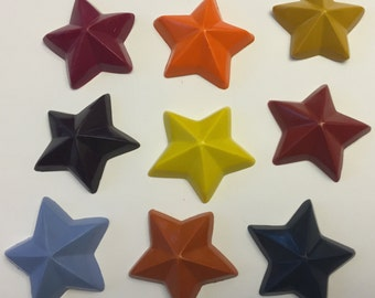 Star Party Favor crayons * 8 16 or 24 Sets of 4 or 8 pieces * Perfect Party Favors * Stocking Stuffers * Gifts