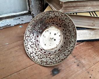 Solid Brass Change Dish Key Dish, Bohemian Decor, Brass Catch All Dish, Ring Dish, BOHO Retro Decor