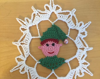 Elf snowflake pattern/not a finished product - no refund