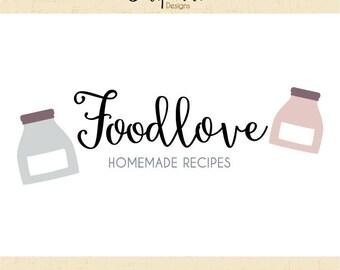 Premade Logo & Watermark // Baking logo // Baker logo // Food Logo // Blog // Food logo design  // Solipandi Design Studio//#051