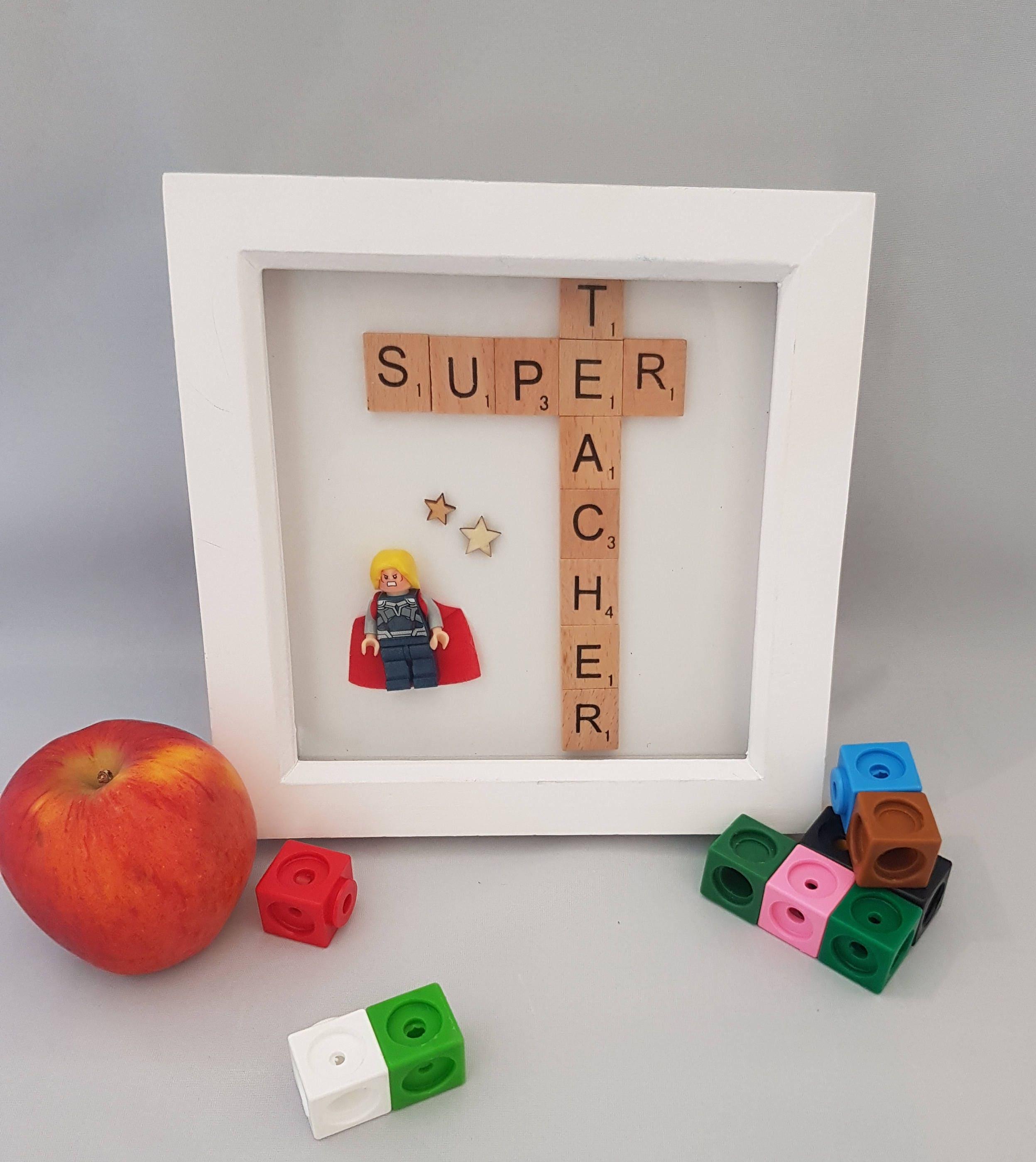 Lehrer-Geschenk Super Lehrer Rahmen danke Lehrer-Geschenk