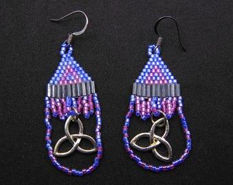 Beaded Celtic Knot Earrings