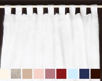 Natural linen curtains. Linen drapes, Custom Curtains, Linen curtain panels. Washed linen curtains, Modern Drapes. Privacy curtains