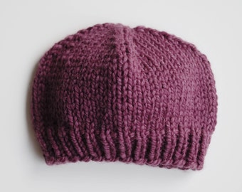 Fitted Knit Hat //  Knit Beanie  // Chunky Knit Hat // Adult Knit Hat