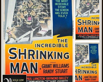Vintage Original 1957 The Incredible Shrinking Man Movie Poster Science Fiction Scifi 1950s Film