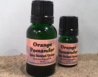 ORANGE POMANDER Essential Oil, Holiday Blend, Fall Winter Diffusing, Christmas, Hanukkah, Diffuser, Havdalah Aroma, Aromatherapy