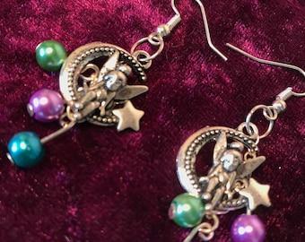 tinker bell fairy ear rings