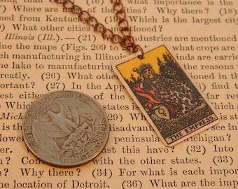 Tarot pendant tarot jewelry The Empress minimalist jewelry mixed media jewelry supernatural