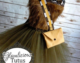 Chewbacca Inspired costume | Wookie tutu dress| costume| newborn- size 10 child listing