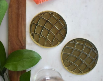 Solid Brass Coasters - set of 4 made by Sarah Cecelia