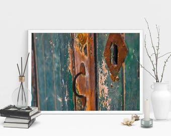 Old Door Photography Print, Wall Art, Color Print, Printable Art, Instant Digital Download Print
