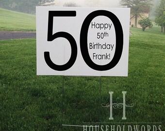 Custom Birthday Yard Sign, Corrugated Yard Sign, Custom Yard Signs, Yard Stake, 24 x 18, Birthday party Signs, Surprise Party Yard marker