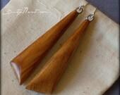 Wood Earrings - Chisel St...