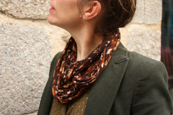 Necklace - Collar scarf cat scarf creation printed jersey fabrics. Neckwrap Jersey