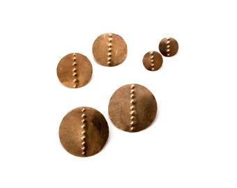 Petroglyph Disc Earrings