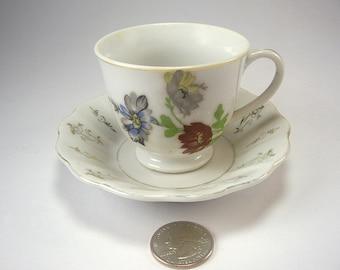 Vintage Porcelain Tea Cup and Saucer, Rock City Lookout Mountain, GA, Souvenir, Occupied Japan '45 - '52