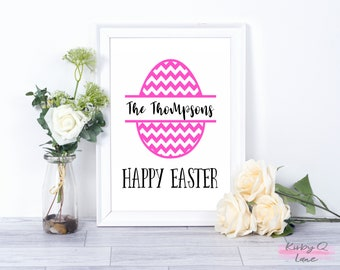 Personalized DIGITAL DOWNLOAD-Easter Egg PRINTABLE-Home Decor-Wall Art-Easter Decor