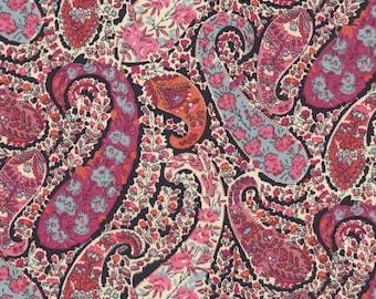 Liberty Burton Paisley pink fabric