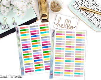 FUNCTIONAL TWO-TONED Paper Planner Stickers - Mini Binder Sized/3 Hole Punched