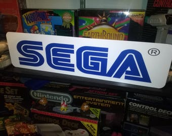 "Sega Display, Aluminum Sign, 6""x24"""