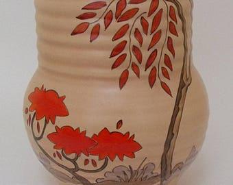 Clarice Cliff Mowcop Vase - Art Deco - 1930's