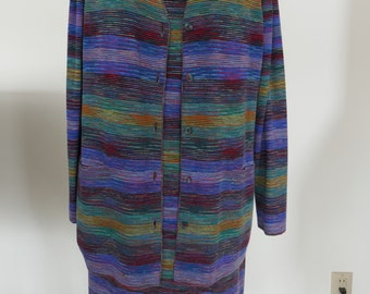 Missoni Italian Wool Knit Dress and Cardigan S