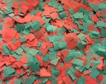 Beach Wedding Confetti / Bio-degradable Confetti /Blue and Coral Confetti / Biodegradable Confetti / Wedding Decor