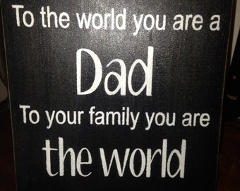 Father's Day - Distressed Wood Sign