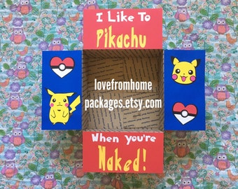Pikachu Pokemon Care Package Flaps
