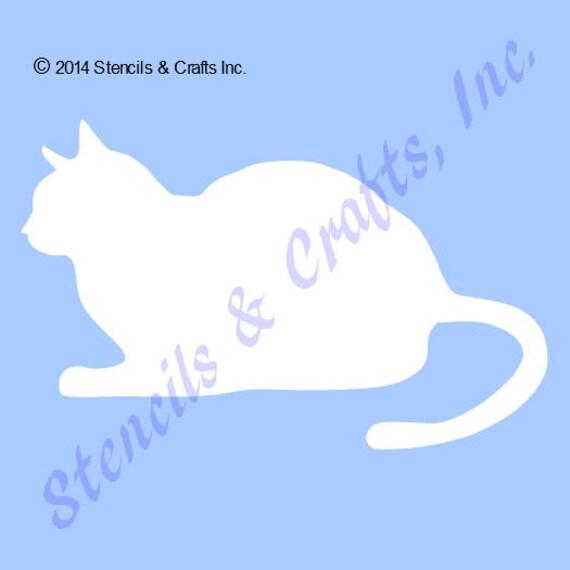 CAT Schablone Vorlage Schablonen Vorlagen Handwerk Katze Tier