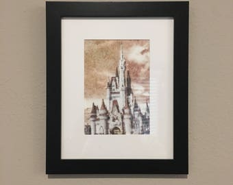 Magic Kingdom - Cinderella's Castle - Disney World - 5x7 inches - Original Watercolor Painting - Wall Art - Gift