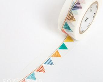 Bunting Washi Tape • Birthday Party Supplies • MT Masking Tape • Washi Tape UK • Japanese Stationery • MT ex Flag