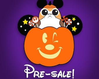 PRE-SALE Porg Pumpkin Mouse - In Production- Glow in the Dark - soft enamel pin
