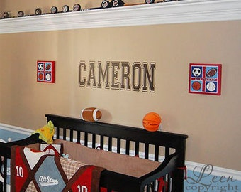 Name Vinyl Wall Decal Personalized Gift Perfect For Bedroom - Advertize monogram wall decals