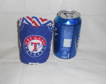 Texas Rangers Soda or Beer Can Cooler