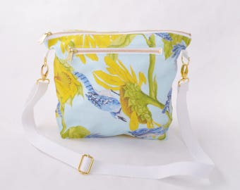 Purse - Blue Jay and Sunflower