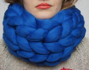 Clothing gift Merino Wool Scarf - Knit Wool Scarf - Super Chunky Scarf - Winter Scarf - Hand Knit Scarf - Womens Winter Scarf  Crochet scarf