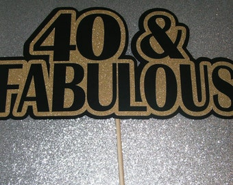 40th Birthday Photo Booth Props 40th Birthday Glitter Paper Gold Sparkle (2126D)