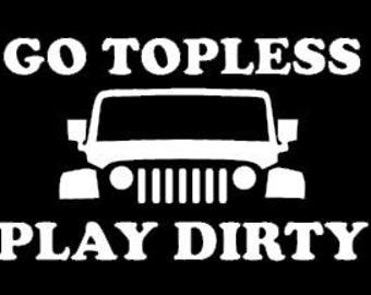 JEEP Go Topless Sticker