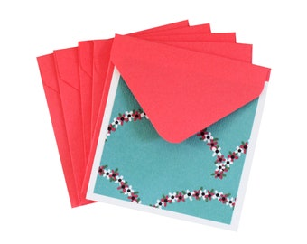 Blank Note Cards and Envelopes - Thank You Cards - Greeting Cards -  Small Envelopes - Gift Tags - Party Favor - Love Cards - Unique Tags