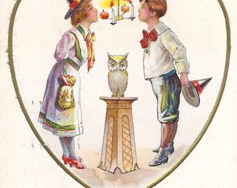 Antique 1912 Halloween Postcard
