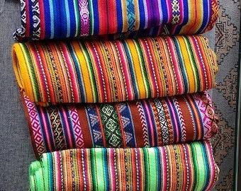 Ethnic fabric peruvian fabric 4 yards bundle