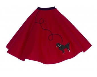 Adult Red 50's POODLE SKIRT